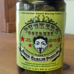 pucker's sour garlic pickles